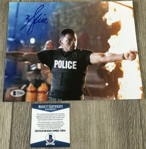 WILL SMITH SIGNED AUTOGRAPH BAD BOYS 8x10 PHOTO w/PROOF & BECKETT BAS COA