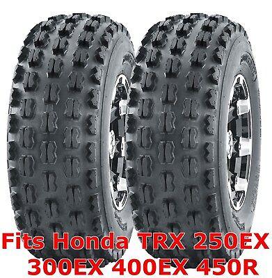 (2 ATV Tires 22x7-10 22x7x10 Honda TRX 250EX 300EX 400EX 450R front GNCC Racing)
