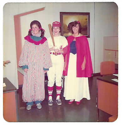 Square Vintage 70s PHOTO Women In Clown, Baseball, Snow White Halloween Costumes](Vintage Halloween Costumes 70s)