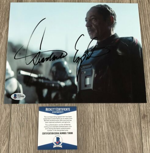 GIANCARLO ESPOSITO STAR WARS SIGNED THE MANDALORIAN 8x10 PHOTO w/ BECKETT BAS CO