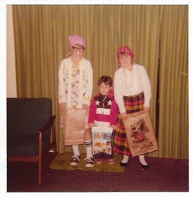 Vintage 70s PHOTO Girls & Little Boy in Halloween Costumes](Vintage Halloween Costumes 70s)