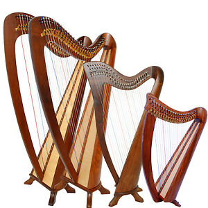 Rosewood-Harp-Round-Back-Lever-Harp-Irish-Harp-Celtic-Harp-Harp