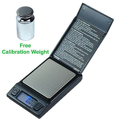 100g x 0.01g High Precision Digital Pocket Scale with 100g Calibration Weight