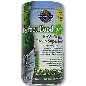 Garden Of Life Perfect Food Raw Organic Green Superfood Drink 8 5 Oz 30 Servings Ebay