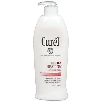 Curel Ultra Healing Daily Moisturizing Lotion - 13 Oz (3 Pk) + Makeup Sponge