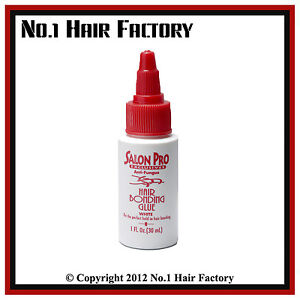 Salon Pro Hair Extension Bonding Glue 1 Fl oz (White)