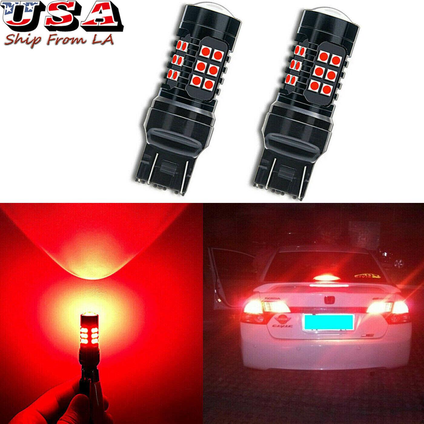 1 Pair Car Door LED Flashing Anti Collision Safety Warning Light Blub Decor NEW