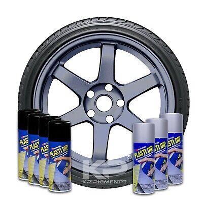 Plasti Dip Wheel Kit 4 White 3 True Metallic Anthracite Aerosol Spray Cans 11 Oz
