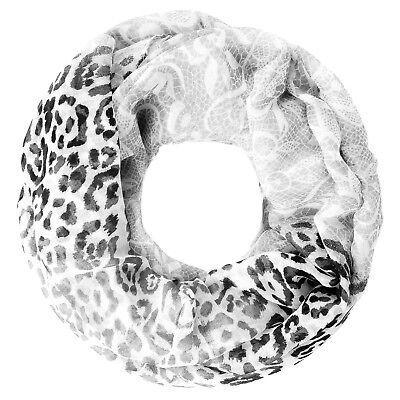 leichter Damen XXL Schlauchschal Infinity Loop Schal Rundschal Blumen