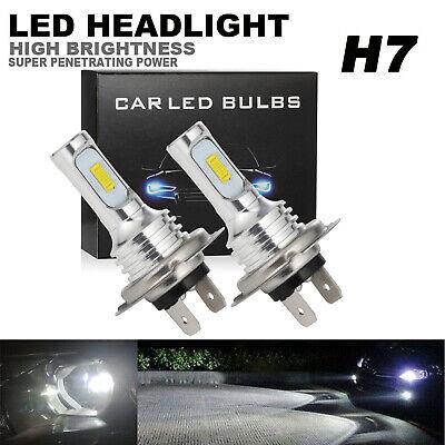 H7 LED Headlight Conversion Kits High/Low Beam Super 4000LM 6000K White 80W 2pcs