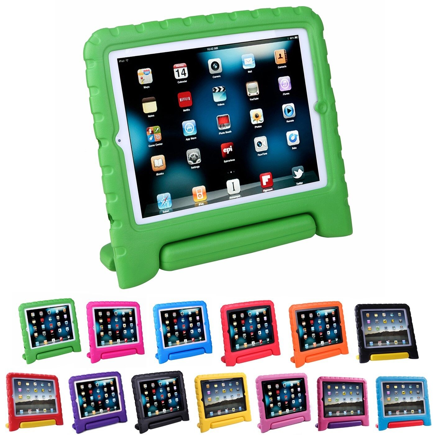 Купить Shock Proof iPad Case for Kids Bumper Cover Handle Stand for Apple iPad 2/3/4