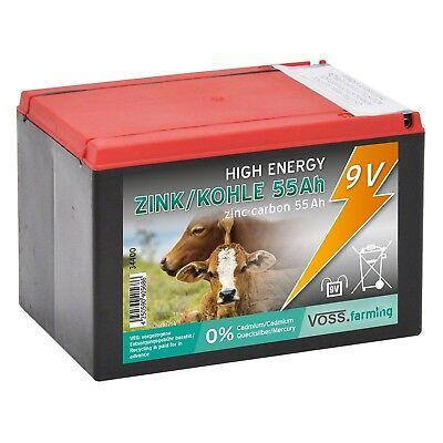 Batterie 9V /55Ah Weidezaun Weidezaunbatterie Trockenbatterie für Weidezaungerät