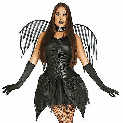 Dark Fairy Halloween (Adult Ladies Gothic Dark Fairy Angel Fancy Dress Halloween Costume)