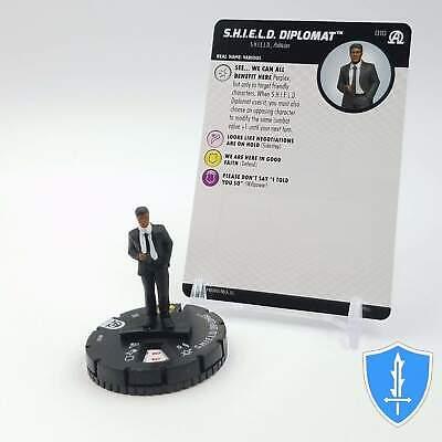 - SHIELD Diplomat - 010 Marvel Black Panther Illuminati HeroClix Miniature Common