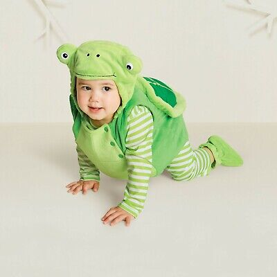 Hyde & Eek Baby Costume Halloween Plush Turtle Vest Wings Booties Size 0/6 Month ()