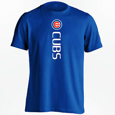 Chicago Cubs T-Shirt - World Series Champs Cubs Vertical Design - S-5XL
