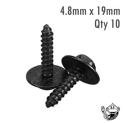 BMW SELF TAPPING TAPPER SCREW & WASHER 8MM HEX HEAD 4.8x19MM BLACK