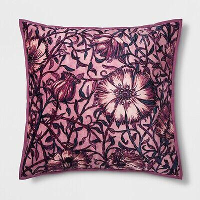 Love in a Mist Velvet Pillow Sham - Purple - Standard 26
