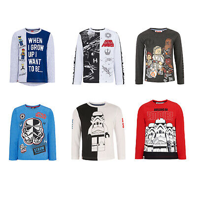 Lego Star Wars Long Sleeve T-Shirt Tops for Boys