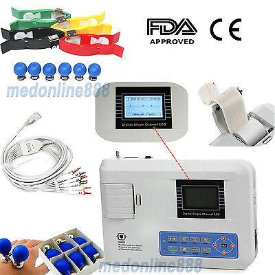 12 Lead Electrocardiograph Ecgekg Machine Interpretation Fda Us Seller Contec