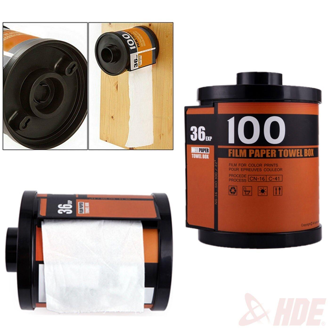 Novelty camera roll toilet paper cover holder film canister tissue dispenser box ebay - Toilet roll canister ...