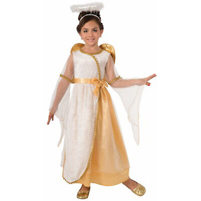 Golden Angel Girls Child Holiday Play Christmas Spirit Costume