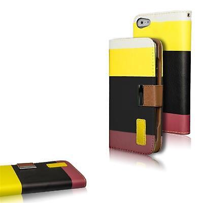 Apple iPhone 5C Hülle Klapphülle Tasche 3 Farben Premium Book Case Wallet Cover ()
