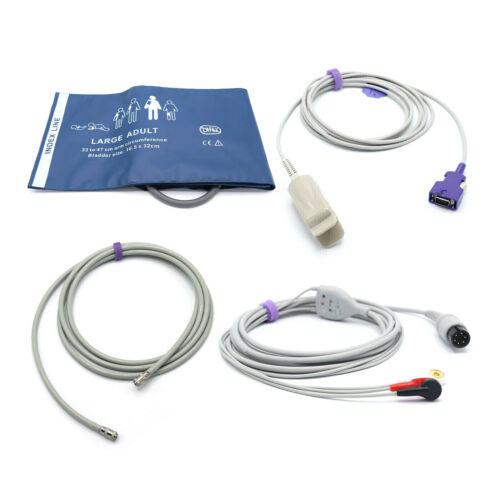 Mindray Accessories Bundle - Cuff, Hose, SpO2 Nellcor Oximax, ECG - USA Located