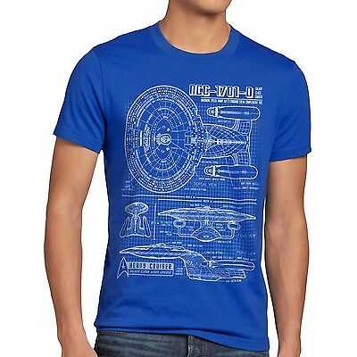 NCC-1701-D T-Shirt trek trekkie star raumschiff next enterprise generation space ()
