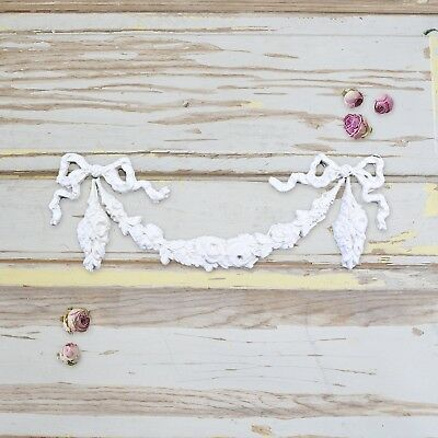 FREE SHIPPING BEST SELLER Shabby ROSE SWAG APPLIQUE French Furniture Chic Craft Best Craft Furniture