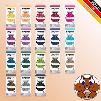 simplicol Textilfarbe intensiv all-in vers. Farbtöne Färben / Batiken