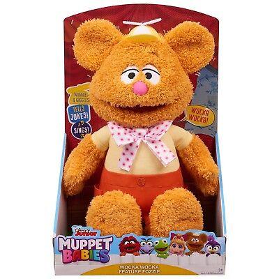 NEW Disney Junior 2018 Muppet Babies WOCKA WOCKA FEATURE FOZZIE Bear Plush