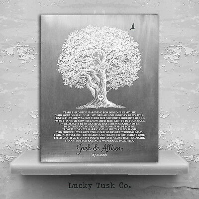 (LT-1416) Personalized Thank You Gift For Brides Parents Gift From Groom For ...