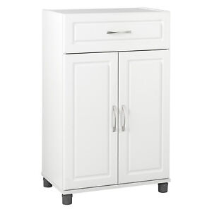 new free standing 2 door storage cabinet kitchen pantry laundry room cupboard ebay. Black Bedroom Furniture Sets. Home Design Ideas