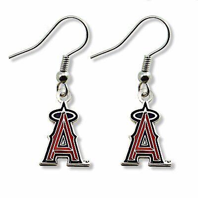 Anaheim Angels Baseball Dangle Earrings A Halo Logo Design MLB Earrings