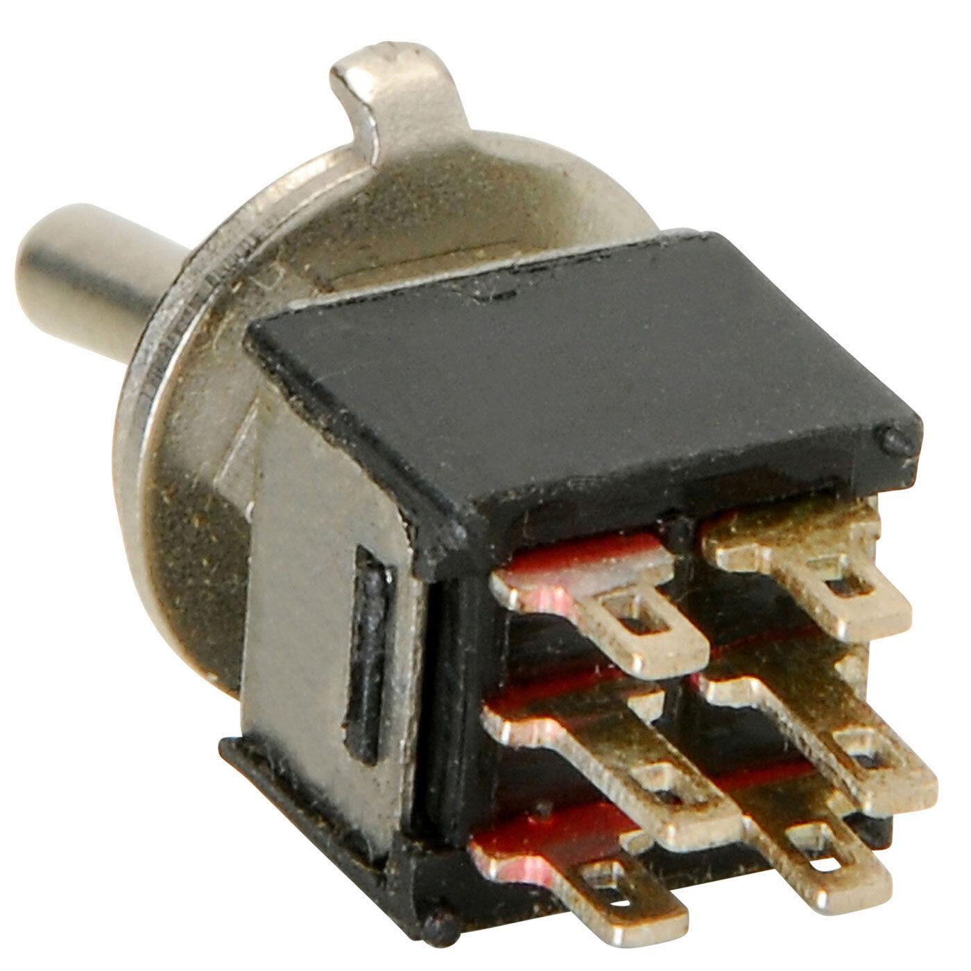 Dpdt Sub Mini Toggle Switch Center Off 844632075278 Ebay