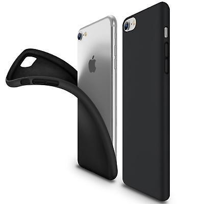Ultra Slim Case iPhone 7 Handy Hülle Schutzhülle Silikon Cover Schwarz Tasche ()