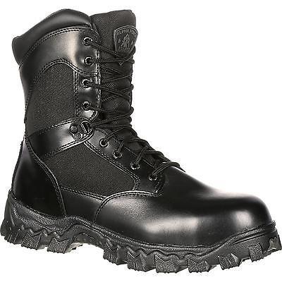 Soft-toe Side Zip (Rocky Alphaforce Mens Waterproof Side Zip Soft Toe actical Boots FQ0002173)