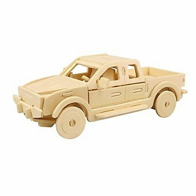 3D Wooden Puzzle Building Kit Pickup Truck Car Model Wood Best Gift For Kids](Wood Building Kits For Kids)