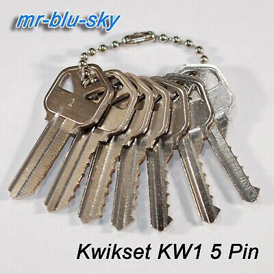 Kwikset Kw1 Space Depth Keys Locksmith Tool Code Cutting Key Set