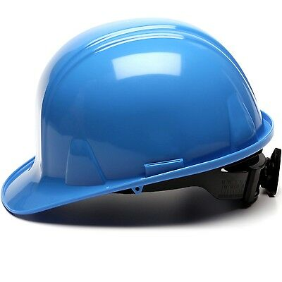 Light Blue Hard Hat (Pyramex Cap Style Hard Hat with 4 Point Ratchet Suspension, Light)