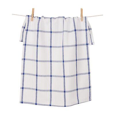 KAF Home Windowpane Oversized Kitchen Towel, 100% Cotton, Blue