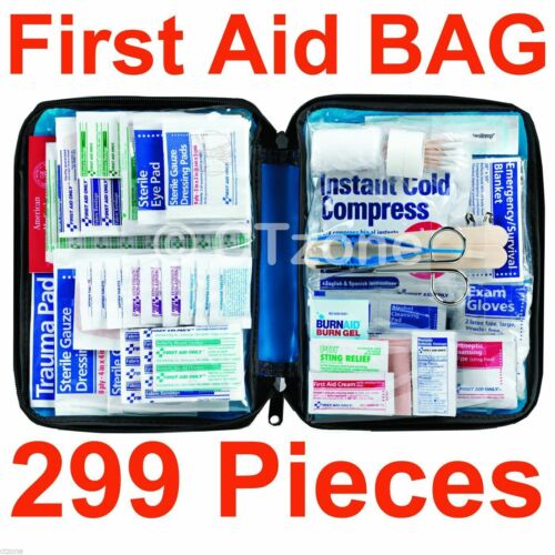 299 pcFirst Aid Kit Emergency Bag Home Car Outdoor American Red Cross Guide Set