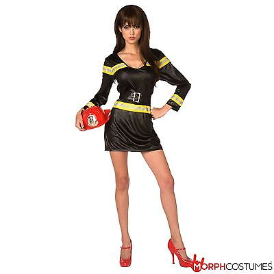 Fireman Outfit For Adults (Sexy Firewoman Fancy Dress Costume Female Firefighter Outfit Great for Hen)