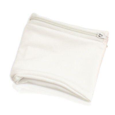 Wristband with Zip Sports Wallet Gym Wrist Purse Zipped Pocket White