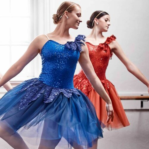 Adult 2XL BLUE Romantic Ballet Dance Costume Forest of Fairies