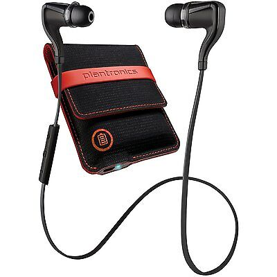 Plantronics Backbeat Go 2 Stereo Bluetooth Headphones   Charging Case  Black