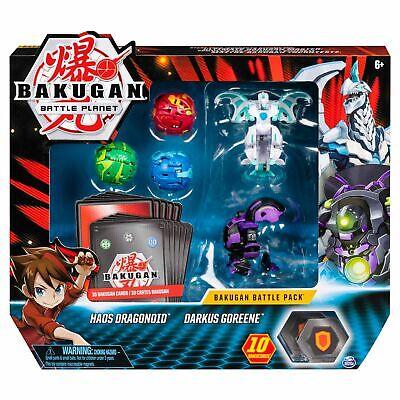 Bakugan Battle Pack 5-Pack, Haos Dragonoid, Darkus Goreene, Collectible Brawler Bakugan Battle Pack
