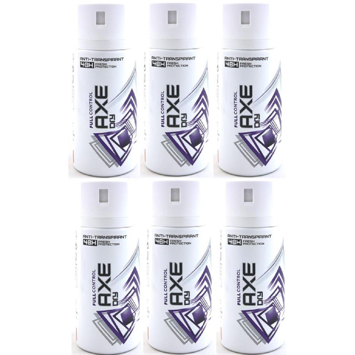 Axe Deo 6 x 150 ml diverse Sorten Deodorant Deospray - verschiedene Sorten Full Control Dry