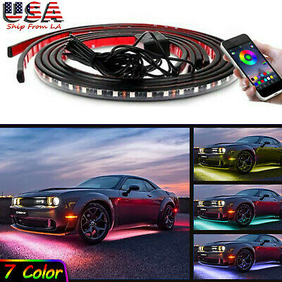 RGB LED Car Neon Light Chassis Atmosphere Lamp for Dodge Challenger -